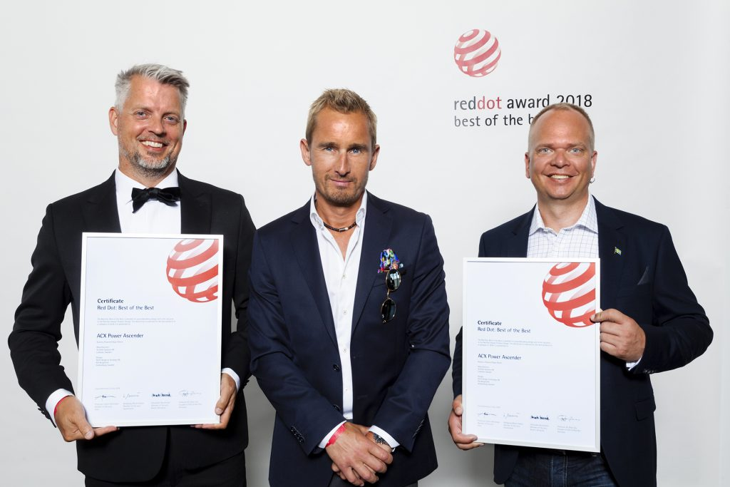 Our very own Pär Bergström accepting 'Best of the Best' with ActSafe's dapper chaps Magnus Glans and Michael Melin. Photo credit: Red Dot.